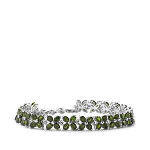 14.44ct Chrome Diopside Sterling Silver Bracelet