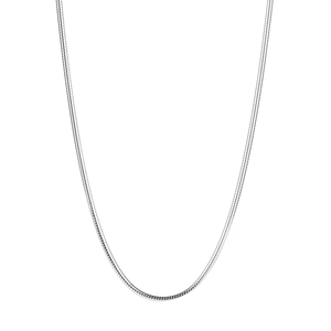 """20"""" Sterling Silver Tempo Round Snake Chain 7.20g"""