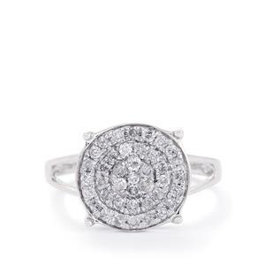 1/2ct Diamond 10K White Gold Ring