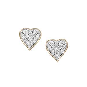 Argyle Diamond Earrings in 9K Gold 0.34ct