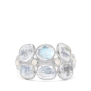 3.30ct Rainbow Moonstone Sterling Silver Ring