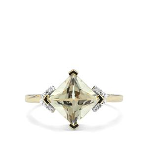Serenite Ring with Diamond in 9K Gold 2.22cts
