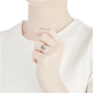 1.20ct Harlequin 10K White Gold Ring
