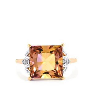 Anahi Ametrine & Diamond 9K Rose Gold Ring ATGW 4.65cts