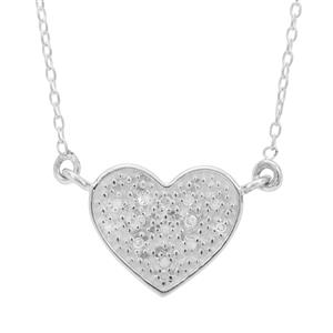 Diamond Necklace in Sterling Silver 0.08ct