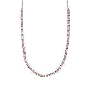 7.28ct Kaffe Tourmaline Sterling Silver Necklace