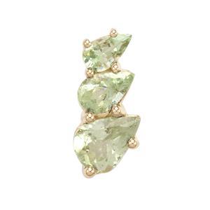 1.40ct Merelani Mint Garnet 9K Gold Pendant