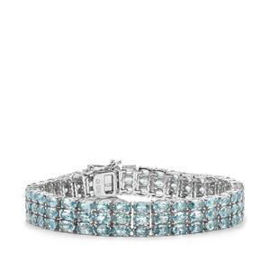 Ratanakiri Blue Zircon Bracelet in Sterling Silver 41.14cts