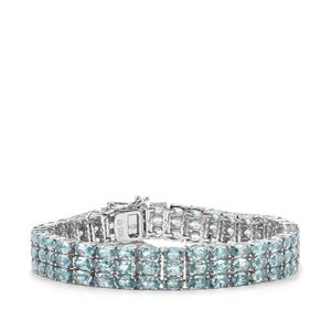 41.14ct Ratanakiri Blue Zircon Sterling Silver Bracelet