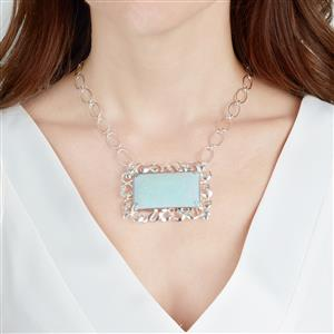 Amhara Opal Necklace in Sterling Silver 30.10cts