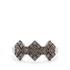 Grey Diamond Ring in Sterling Silver 0.51ct