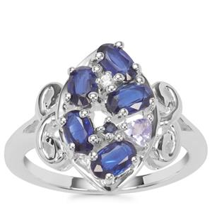 Kaleidoscope Gemstones Ring in Sterling Silver 1.52cts