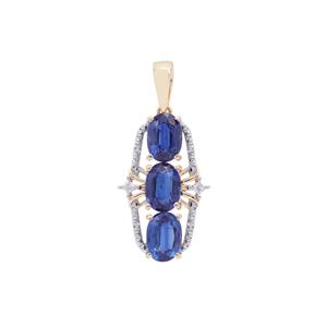 Nilamani Pendant with White Zircon in 9K Gold 3.37cts