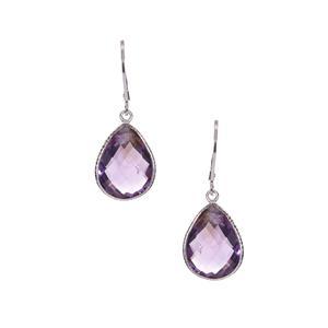 12ct Ametista Amethyst Sterling Silver Earrings