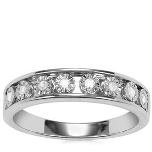 Diamond Ring in Sterling Silver 0.13ct