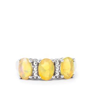 1.45ct Ethiopian Opal Sterling Silver Ring