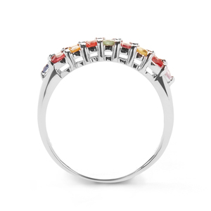 Multi-Colour Sapphire Ring in Sterling Silver 1.11cts