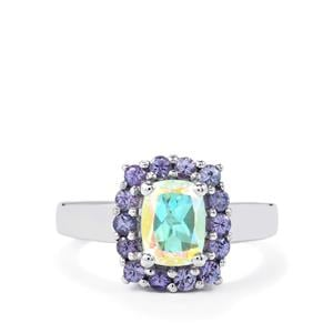 Mercury Mystic Topaz Ring with Tanzanite in Sterling Silver 2.41cts
