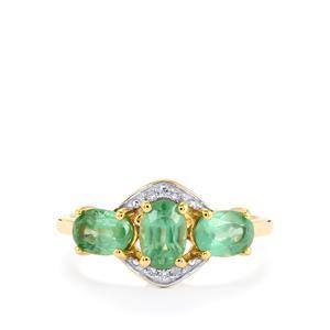 Nuagaon Kyanite & Diamond 9K Gold Ring ATGW 1.86cts