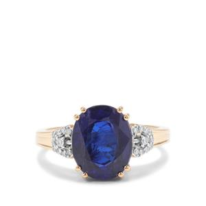 Nilamani Ring with Diamond in 18K Gold 4.97cts