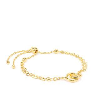 "'Circle d'amour' 10"" Midas Slider Bracelet 3.17g"