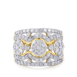 Diamond Ring in 10k Gold 1.95cts