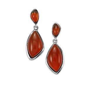 8.35ct American Fire Opal Sterling Silver Earrings