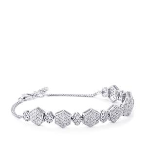 2.75ct Diamond Sterling Silver Bracelet