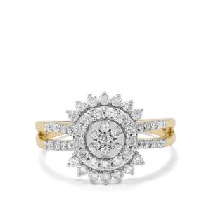 3/4ct Canadian Diamond 9K Gold Tomas Rae Ring