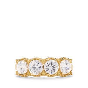 Singida Tanzanian Zircon & Yellow Sapphire 9K Gold Ring ATGW 2.77cts
