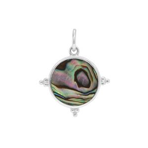 Abalone Pendant in Sterling Silver 1.75cts