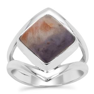 Iolite Sunstone Ring in Sterling Silver 5cts
