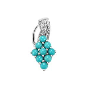 Sleeping Beauty Turquoise Pendant in Sterling Silver 1.03cts