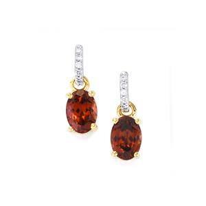 Zanzibar Zircon Earrings with Diamond in 18K Gold 2.51cts