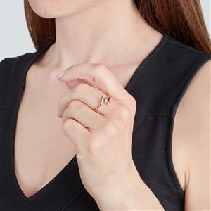 Cognac Diamond Ring in 9K Gold 0.18ct