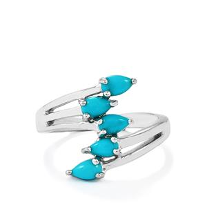 Sleeping Beauty Turquoise Ring in Sterling Silver 0.94ct