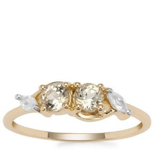 Csarite® Ring with White Zircon in 9K Gold 0.78ct