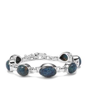 Shattuckite Bracelet in Sterling Silver 28cts