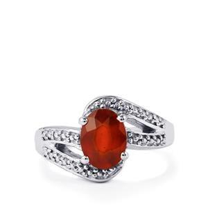2.33ct Hessonite Garnet Sterling Silver Ring