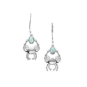 1.08ct Larimar Sterling Silver Earrings