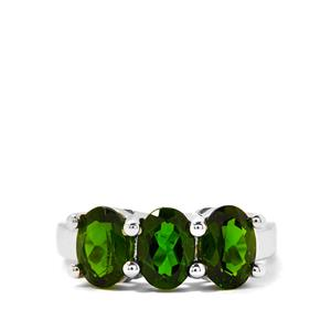 2.45cts Chrome Diopside Sterling Silver Ring