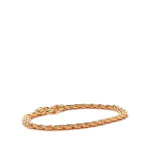 9K Gold Altro Spiga Bracelet 6.80g
