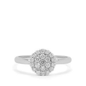 Diamond Ring in Platinum 950 0.34ct
