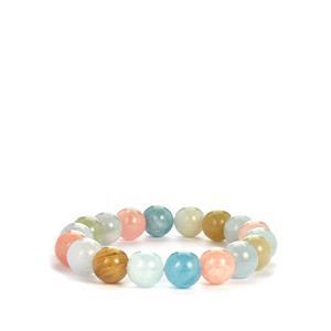 Multi-Colour Beryl Stretchable Bracelet 210cts