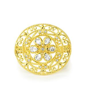 White Topaz Ring in Vermeil 1.36cts