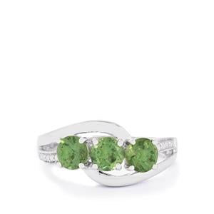 1.62ct Mandrare Green Apatite Sterling Silver Ring