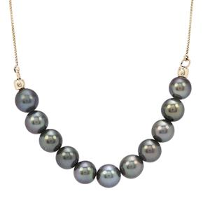 Tahitian Cultured Pearl Necklace in 9K Gold (7mm)