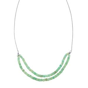 40.50ct Aquaprase™ Sterling Silver Bead Necklace