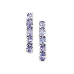 3.17ct Tanzanite Sterling Silver Earrings