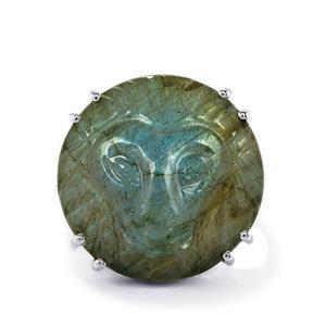 19.15ct Copper Labradorite Sterling Silver Ring